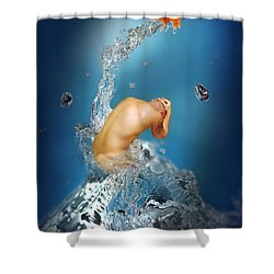 In The Water Shower Curtain by Mark Ashkenazi