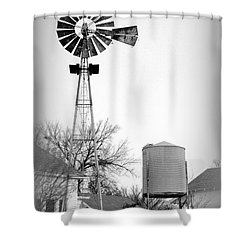 In The Windmills Of Your Mind Shower Curtain by Kathy  White