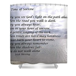 Shower Curtain featuring the painting In Time Of Sorrow by Linda Feinberg
