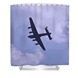 In To The Clouds Shower Curtain