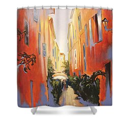 In Town Of Saint Tropez Shower Curtain