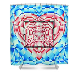 Shower Curtain featuring the painting In Your Heart Of Hearts by Joseph J Stevens