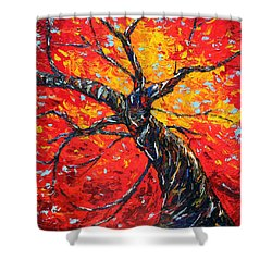 Shower Curtain featuring the painting In Your Light by Meaghan Troup