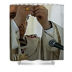 Inauguration Pope Francis Vatican  Rom 19 February 2013  Shower Curtain