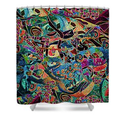 Inbetween Realms  Shower Curtain by Expressionistart studio Priscilla Batzell