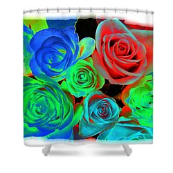 Incandescent Roses Shower Curtain by Will Borden