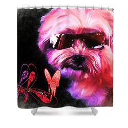 Shower Curtain featuring the digital art Incognito Innocence by Kathy Tarochione