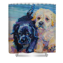 Incoming Shower Curtain by Kimberly Santini