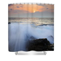 Incoming Shower Curtain by Mike  Dawson