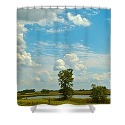 Incoming Shower Curtain by Frozen in Time Fine Art Photography