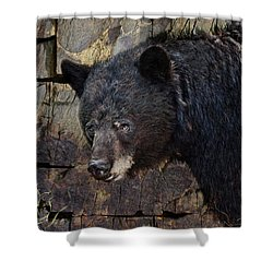 Inconspicuous Bear Shower Curtain