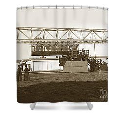 Shower Curtain featuring the photograph Incredible Hanging Railway  1900 by California Views Mr Pat Hathaway Archives