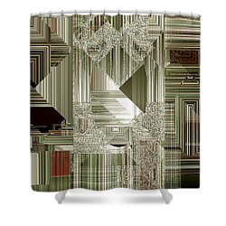 Shower Curtain featuring the painting Indecision I by RC deWinter