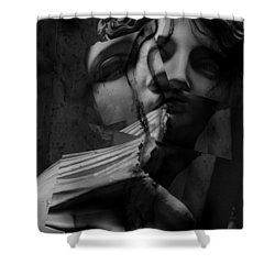 Indecisive Cracks Shower Curtain by Empty Wall
