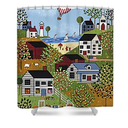 Independence Day Shower Curtain by Medana Gabbard