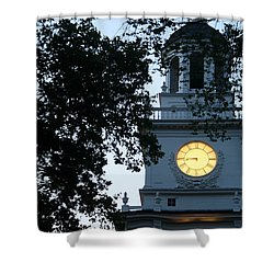 Shower Curtain featuring the photograph Independence Hall At Dusk by Christopher Woods
