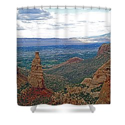 Independence Monument In Colorado National Monument Near Grand Junction-colorado Shower Curtain