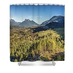 Index Mountains Panorama Shower Curtain