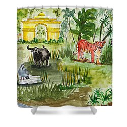 India Friends Shower Curtain