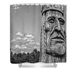 Indian Chief Charlestowne Landing Shower Curtain