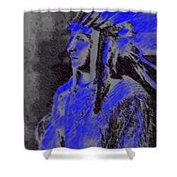 Indian Chief Shower Curtain by George Pedro