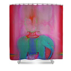Indian Elephant Shower Curtain by Charles Stuart
