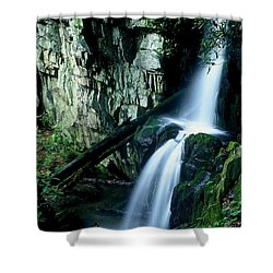 Indian Falls Shower Curtain by Rodney Lee Williams