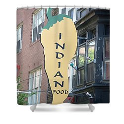 Indian Food Shower Curtain by Sonali Gangane
