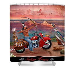 Indian Forever Shower Curtain by Glenn Holbrook
