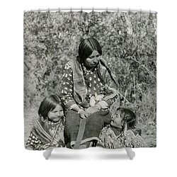 Shower Curtain featuring the photograph Indian Mother With Daughters by Charles Beeler