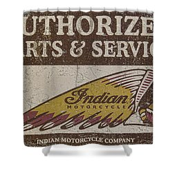 Indian Motorcycle Sign Shower Curtain