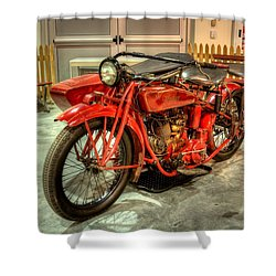 Indian Motorcycle With Sidecar Shower Curtain