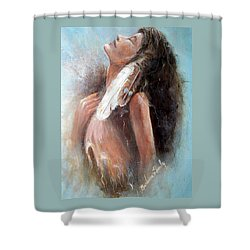 Indian Princess Shower Curtain