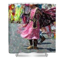 Indian Princess Dancer Shower Curtain by Kathleen Struckle