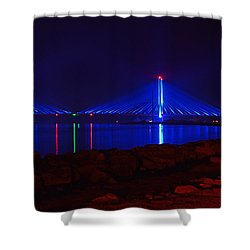 Indian River Inlet Bridge After Dark Shower Curtain