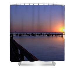 Indian River Sunrise Shower Curtain by Brian Harig