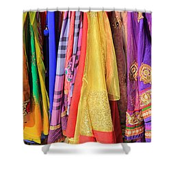 Indian Sarees Shower Curtain