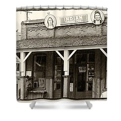 Indian Trading Post Virginia City Montana 02 Shower Curtain by Thomas Woolworth