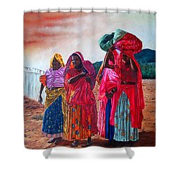 Indian Women Shower Curtain