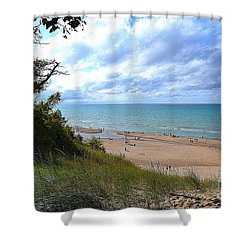 Indiana Dunes Beachscape Shower Curtain