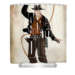 Indiana Jones Vol 2 - Harrison Ford Shower Curtain by Ayse and Deniz