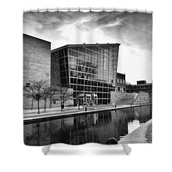 Indiana State Museum Shower Curtain by David Haskett