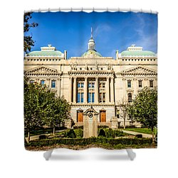 Indiana Statehouse State Capital Building Picture Shower Curtain by Paul Velgos