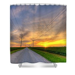 Indiana Sunset Shower Curtain