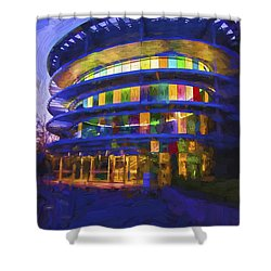 Indianapolis Indiana Museum Of Art Painted Digitally Shower Curtain
