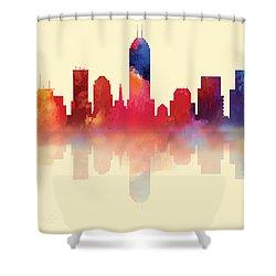 Indianapolis Indiana Skyline I Shower Curtain