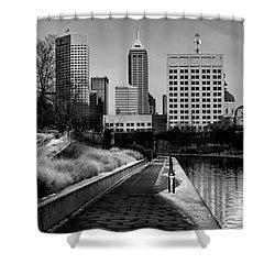 Indianapolis Skyline 21 Shower Curtain