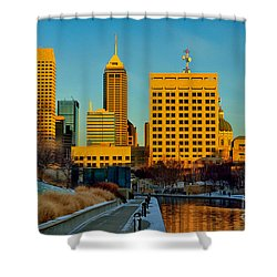 Indianapolis Skyline Dynamic Shower Curtain