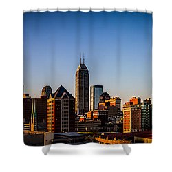 Indianapolis Skyline - South Shower Curtain