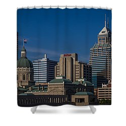 Indianapolis Skyscrapers Shower Curtain